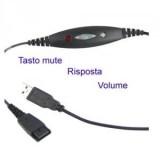 Cavo USB per cuffie telefoniche Ezlight PRO
