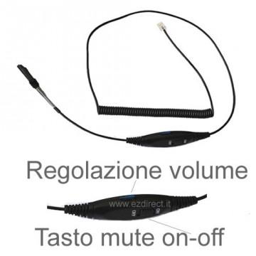 Cavo RJ9 EZD-QD004 con mute e volume per cuffia telefonica Ezlight - Jabra
