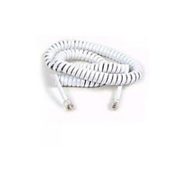 Cavo spiralato 5 metri bianco 1 pezzo