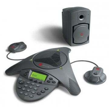 Polycom VTX 1000 EX con microfoni e subwoofer