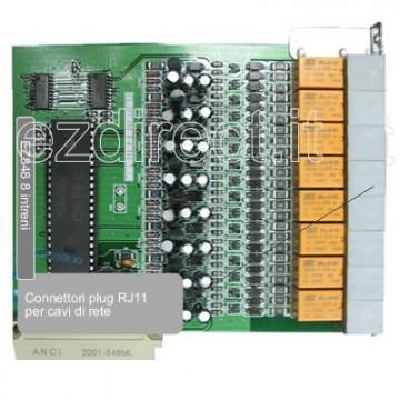 Scheda 8 interni analogici per centralino EZ832-PLUS