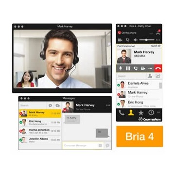 Bria 4 softphone Windows desktop client