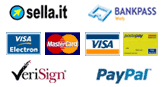 Visa, Paypal, Sella.it, Mastercard, Bankpass, Verisign