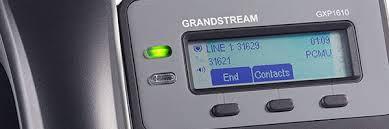 GXP1610 grandstream display