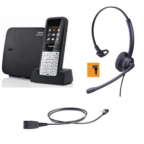 Telefono cordless con cuffia