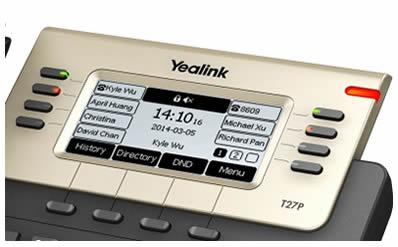 yealink t27P display