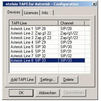 CTI tapi drivers for asterisk