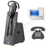 Cuffia telefonica wireless per PC e telefono fisso W880