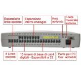 Centralino telefonico EZ832 PLUS 4 linee 16 interni espandibile 8-32