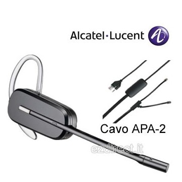 Plantronics CS540 wireless APA22 APA23 per telefono alcatel
