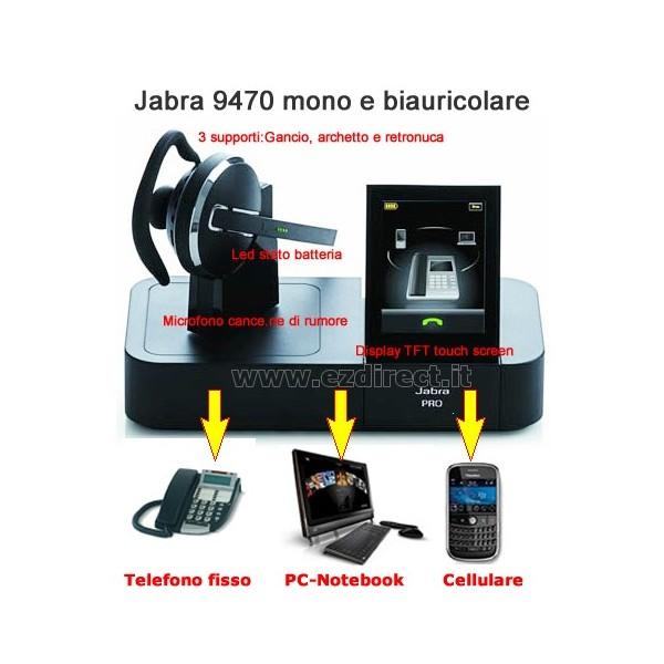 Jabra PRO 9470 promo con sollevatore GN1000 incluso