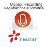 Yeastar licenza registrazione programmata Mypbx U200