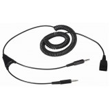 Cavo per PC con 2 jack  per Ezlight - Jabra su PC (scheda audio)