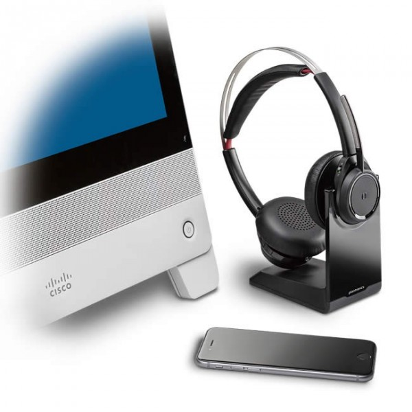 Plantronics Voyager Focus UC 825M Ms Lync Skype for Business - Ezdirect 69fc06dbfb1a