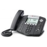 Polycom SoundPoint IP 650 6-line IP phone with HD Voice. Alimentatore incluso.