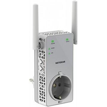 Netgear Wifi Range Extender Dualband AC 750Mit con presa elettrica passante - Dispositivo per leste