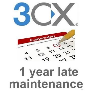 3cx Enterprise 64SC 1 year late maintenance