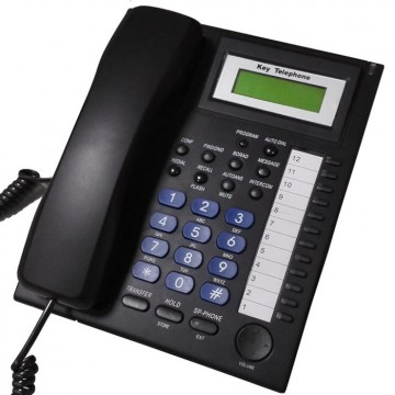 Telefono Keyphone per centralini EZXXX-PLUS supporta DSS - NERO