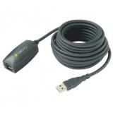 Cavo Prolunga Attivo USB3.0 SuperSpeed 5m Nero