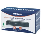Switch Hub Ethernet 10/100Mbps 8 Porte Desktop in Metallo