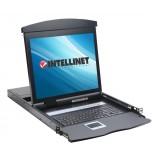 Console KVM (Monitor, Tastiera, Touchpad) 17'' per Rack 19 pollici