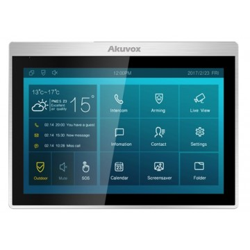 "Akuvox IT83R monitor interno 10"" touch SIP"