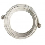 15 m di cavo bianco 3D-FD Hiboost 6mm 50 ohm