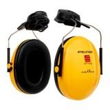 3M PELTOR Optime I  Cuffie auricolari, 26 dB, gialla, con attacco per elmetto, H510P3E-405-GU