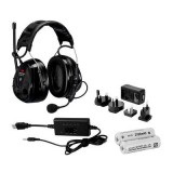 3M PELTOR WS ALERT XP, incl. ACK (FR09, FR08, LR6NM), temporale, nera, 30 dB, Bluetooth®, MRX21A2WS6-ACK