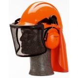 G3000MOR31V5J Kit elmetto 3M G3000M arancio a cricchetto con bardatura in pelle, cuffie H31 Arancio Visiera V5J