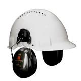 3M PELTOR Optime II Cuffie auricolari, 30 dB, Nera, con attacco per elmetto H520P3E-410-GQ-01