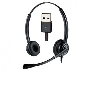 Cuffia USB-A Ultra cancellazione rumore Ms Teams Skype for Business Ezlight Top