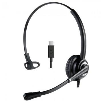 Cuffia mono USB-C con mcirofono UNC Ms teams Skype for Business
