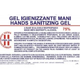 Gel igienizzante mani 125 ml 75% alcool isopropilico