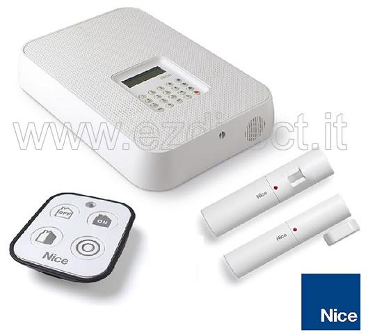 Antifurto wireless con combinatore GSM SMS Nice