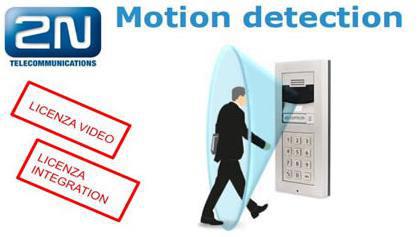 2n citofono con motion detection