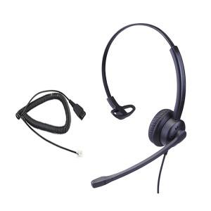 Cuffia per telefono fisso Ezlight microfono NC e cavo plug RJ9 (Alcatel 86746a0f410c