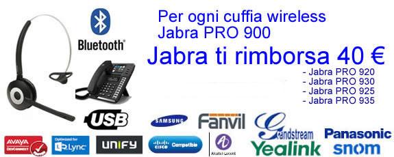 Promozione Jabra Pro 900 - 40 euro di rimborso