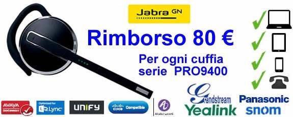 Promozione Jabra Pro Wireless multiuso - 80 euro di rimborso