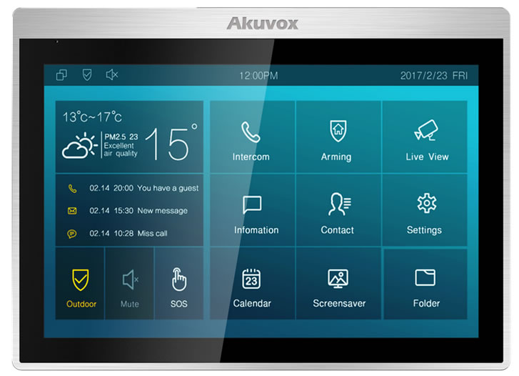 "Akuvox it83R moniotr touch 10"" per citofoni"