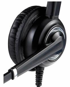 Cuffia con microfono ultra noise cancelling headset