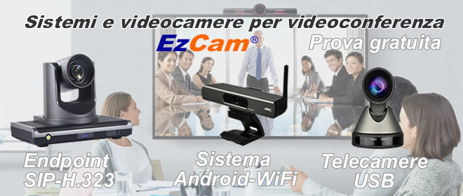 Videocamere USB per videoconferenza
