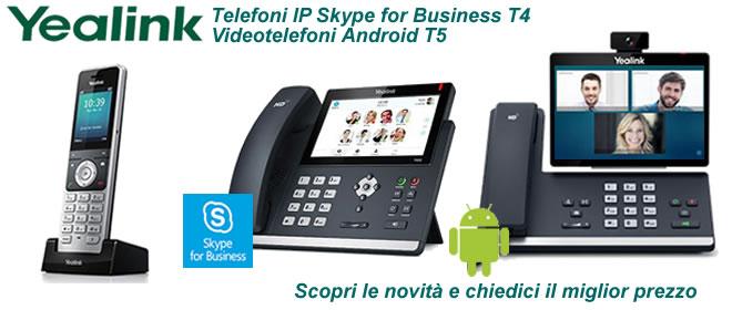 Telefoni yealink videotelefoni e cordless IP