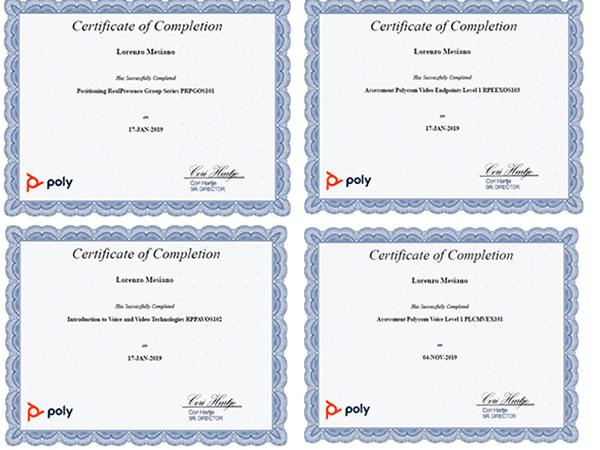 certificazione polycom