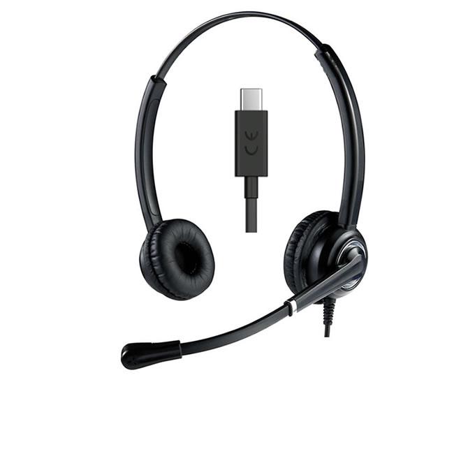 Cuffia USB-C con microfono a ultra cancellazione del rumore
