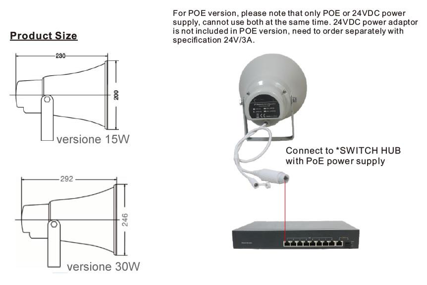 sip horn speaker ezdirect 30w 15w