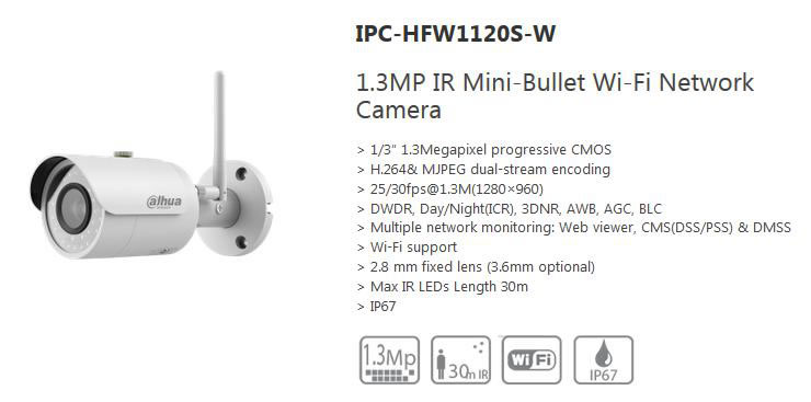 Dahua IPC-HFW1120S-W