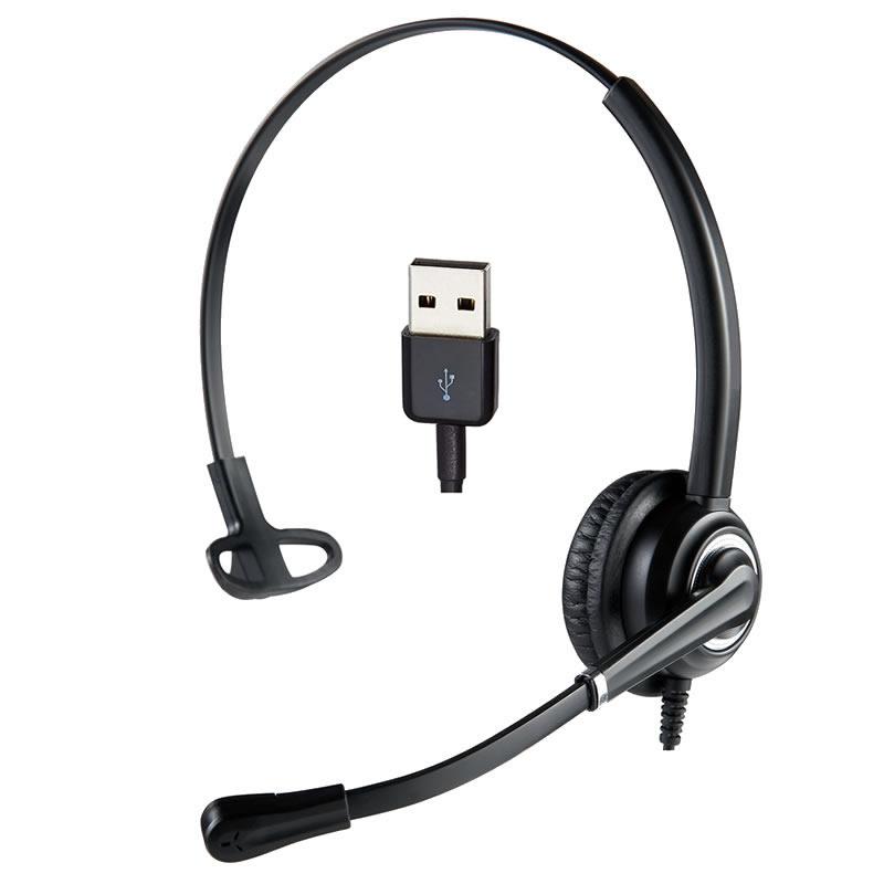 Cuffia mono USB per ufficio telelavoro smart working