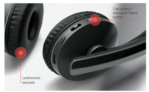 epos adapt 261 260 microsoft certified button