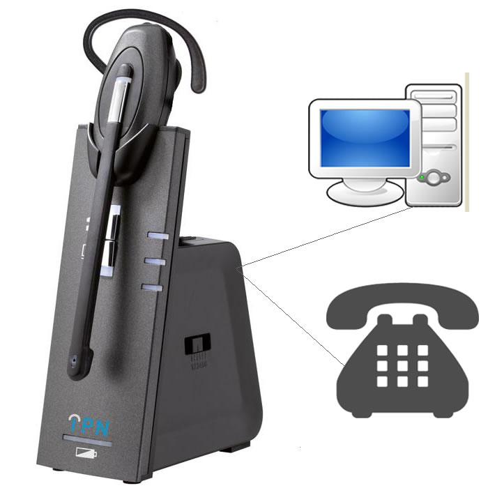 IPN W880 cuffia microfono wireless PC e telefono - Ezdirect 7306fd1f6150